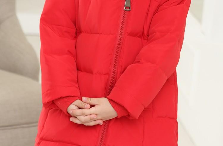 Скидки на Новые дети пуховик девочек одежда верхняя одежда теплая зимняя одежда толстые дети куртка парки