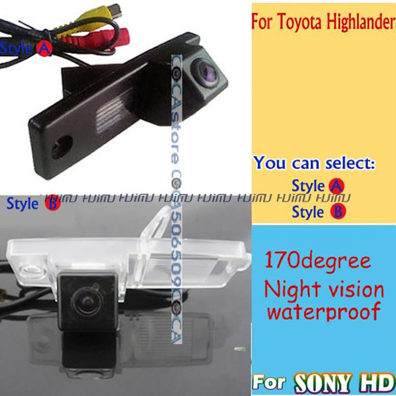 wireless wire hd car backup parking for sony ccd toyota highlander hover g3
