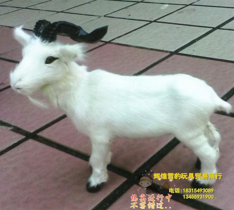 free shipping , simulation animal 19x17cm white goat toy polyethylene & furs handicraft toy gift k0498(China (Mainland))