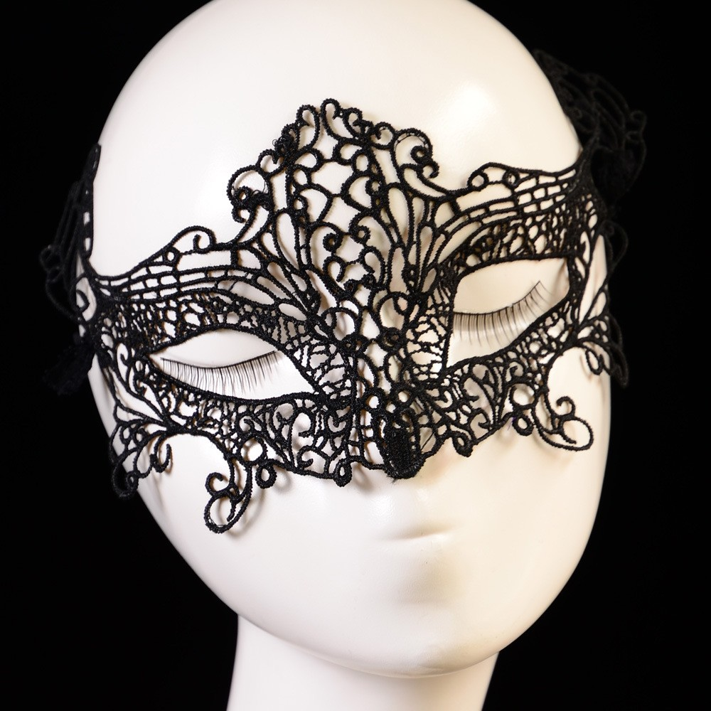 Lady Sexy Black Cat Fox Crown Floral Lace Face Eye Mask Hair Headband Ribbon Fancy Dress Costume Ball Party Halloween Accessory(China (Mainland))