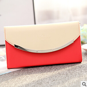 with Coin Bag zipper new 2015 women wallets brand purses female thin wallet passport holder ID Card Case(China (Mainland))