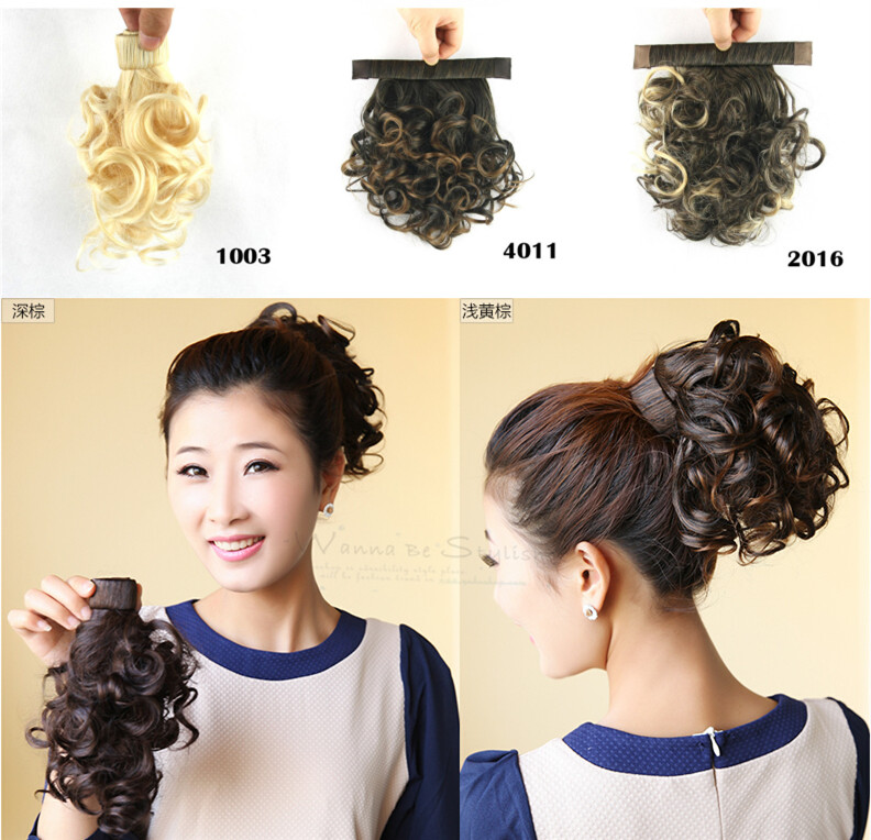 1pcs Synthetic Drawstring Hair Clip Ponytail Afro Curly Fastener Hair Hairpiece Accessories Rope Free Shipping(China (Mainland))