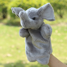 Plush hand puppets Parent-child early childhood toys The fox squirrel toy tiger fluffy hand puppets Quality assurance(China (Mainland))