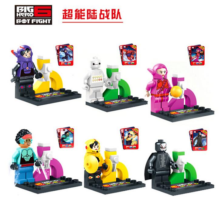 LELE 79029 Big Hero 6 super heroes Avengers 6pcs/lot Movie Action Minifigures Building Blocks Children Toys Compatible With Lego(China (Mainland))