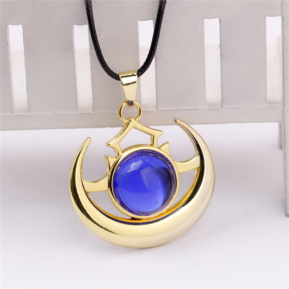 DOTA2 GAME Luna ti5 Luna Moonfang Immortal Shield Necklace Silver Gold Alloy Pendants Necklace For Fashion Jewelry Accessory(China (Mainland))