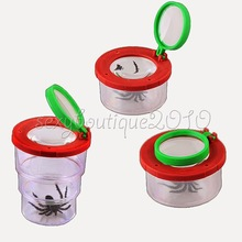Kids Toy Insect Viewer Nature Stretchable Box Holder Catcher 3 Times Magnifier(China (Mainland))