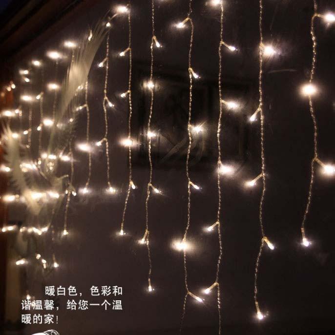 2m*1m LED Christmas Curtain Light 104 LED Icicle Fairy String Light Garden Square Holiday Wedding Party Bar Decoration 110v 220v(China (Mainland))