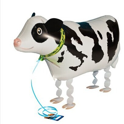 50pcs/Lot, Free Shipping, Wholesale,Cow Pet Walking Animals Balloons Hulium Mylar Balloons, Baby's toy, Party Decoration. .(China (Mainland))