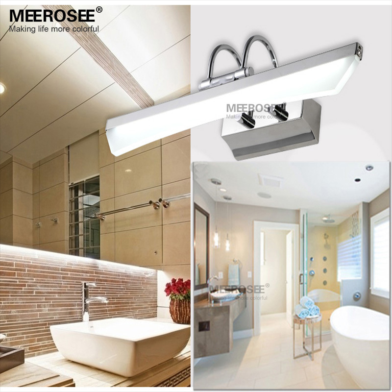 Hot Sale Bathroom Wall lamp LED Acrylic Mirror lighting fixture Chrome LED wall light Makeup room BedroomLustre promote shipping<br><br>Aliexpress