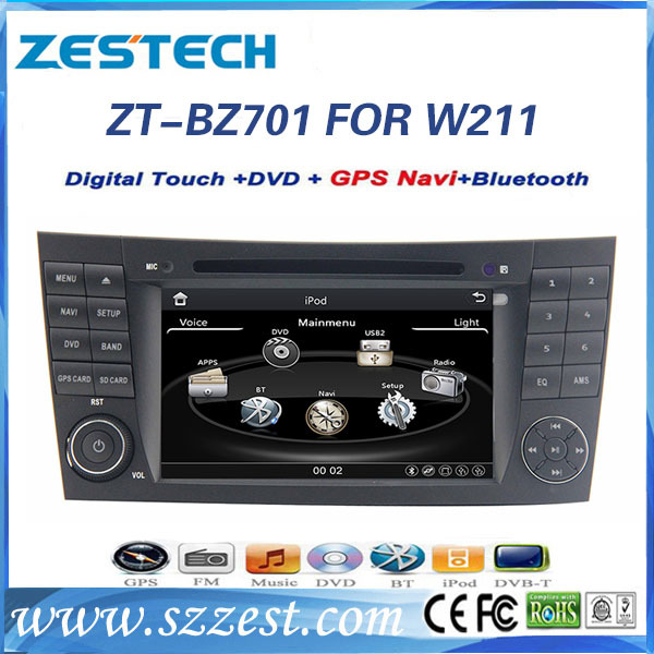 2015 ZESTECH free shipping 7inch car dvd player for E-Class W211/CLS W219/CLK W209/G W463 with Bluetooth GPS(China (Mainland))