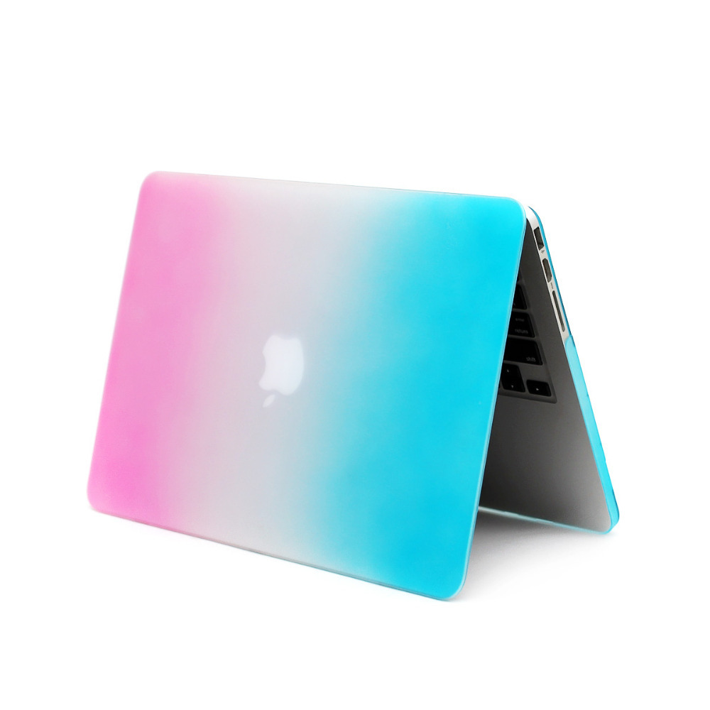 """High Quality Rainbow Matte Tablet PC Case For Apple Macbook Pro Retina 13.3"""" Notebook Case Computer Case+Gift Keyboard Case(China (Mainland))"""