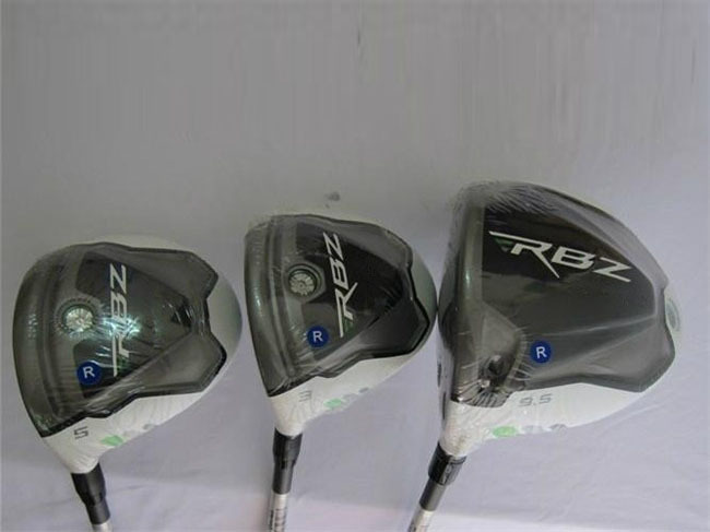3PCS Left Hand RocketBallz Wood Set Golf Clubs Driver + Fairway Woods Regular or Stiff Fujikura Graphite Shaft With Wrench&Cover(China (Mainland))