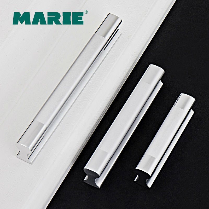 MARIE HARDWARE kitchen drawer furniture aluminum handle,white drawer pull,exquisite workmanship drawer knobs-208-64mm(China (Mainland))