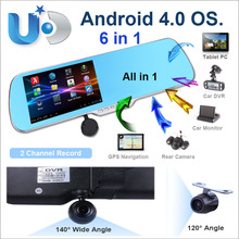 Free shipping 5 inch Original A10 android GPS+rear view camera+car DVR all in one ,1.2GHz,8G,WIFI,AV-IN,dua camera android GPS(China (Mainland))