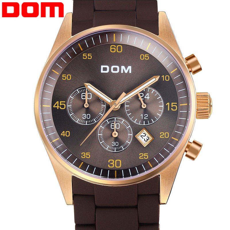 Watches men luxury brand Top fashion Business Watch DOM 540 men quartz wristwatches dive 200m military clock relogio masculino<br><br>Aliexpress