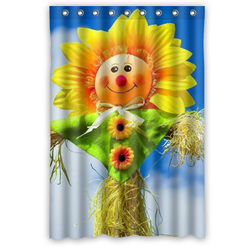 High Quality Bath Curtain Home Product Colorful Flower Sunflower Shower Curtain Mouldproof Waterproof Bathroom Curtain 122x182cm(China (Mainland))