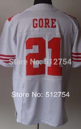 Factory direct online/#21 Frank Gore Jersey,Elite Football Jersey,Best quality,Authentic Jersey Fast Free Shipping(China (Mainland))