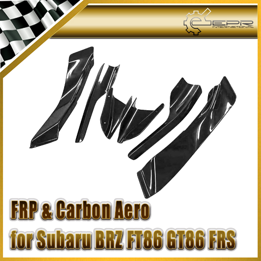 Car Styling For Toyota BRZ FT86 GT86 FRS RB-Style Ver 2 Dai Carbon Fiber Canard (6Pcs)(Just Fit For VR2 Body Kit)<br>