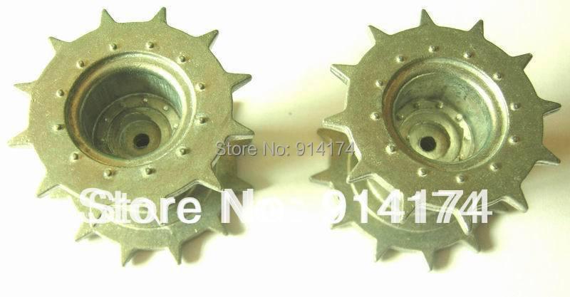1pair henglong rc tank parts snow leopard 3839/3839-1, 1/16 RC tank upgrade parts metal driving wheels 2pcs/set free shipping(China (Mainland))