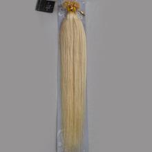 "Wholesale Indian 18""-32"" Women Remy Keratin Nail Tip U tip Human Hair Extensions Straight 1g/s 100s Platinum Blonde #60(China (Mainland))"