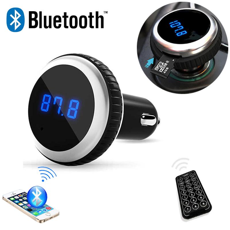 Car MP3 Audio Player Bluetooth FM Transmitter With Remote Control Wireless FM Modulator Car Kit HandsFree LCD Screen w/ TF Slot(China (Mainland))