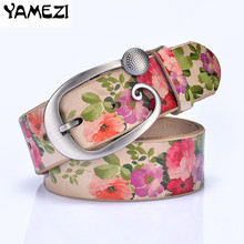 Buy Hot Fashion Genuine leather woman belt Pretty Floral strap women jeans New wide female belts High Cow skin girdle for $11.24 in AliExpress store