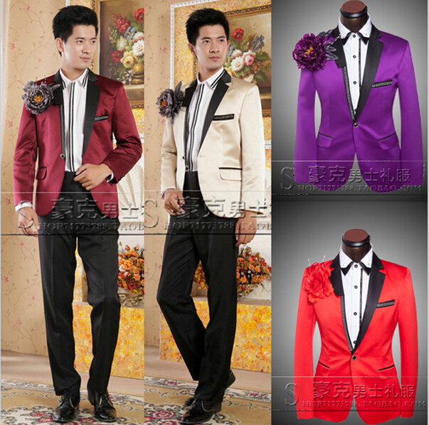 Purple And Gold Prom Suit | My Dress Tip