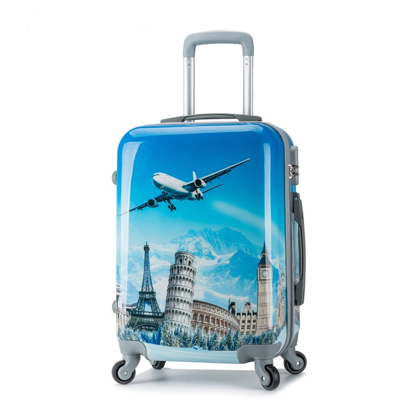 20 inch HOT ABS+ PC cartoon students trolley case lovely men Travel fashion business luggage women rolling suitcase Boarding box(China (Mainland))