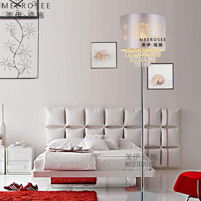 meerosee 2014 creative new living room floor lamp crystal lamp bedroom
