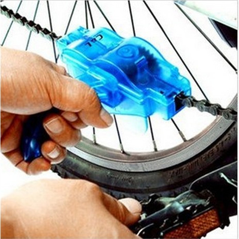 2015 Portable Bicycle Chain Cleaner Mountain Cycling Bike Clean Machine Brushes Scrubber Wash Tool Kits Limpiador Cadena(China (Mainland))
