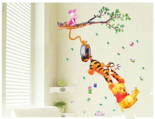 Buy new2014 cute animal home decor wall for Baby room decoration wall stickers