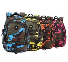 Primary students backpack, child school bags camo, kids school satchel, teen boys girls school backpack, book bag shoulder bag(China (Mainland))