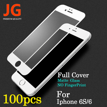JG 100pcs/lot Front Full Screen Protection Tempered Glass for Apple iPhone 6 Screen Protector 6S Film 4.7 inch 9H Hardness