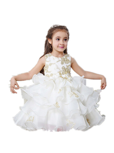 Flower girl dresses weddings baby princess tutu vestido 1 year birthday dress, baptism christening gowns 6032