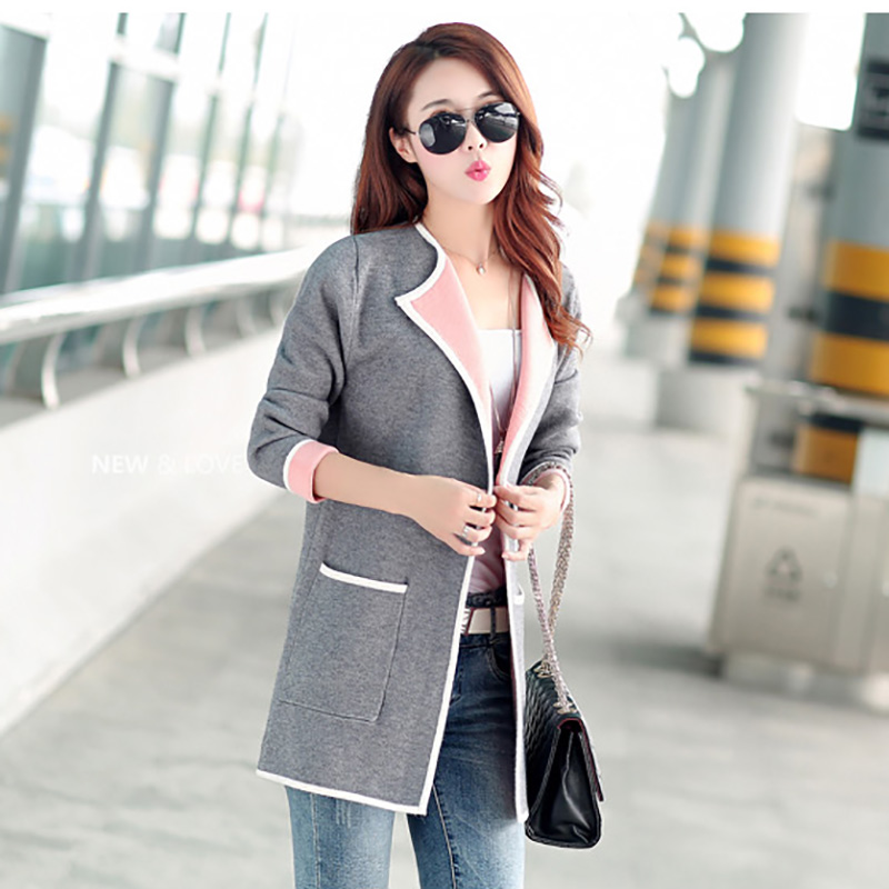 Hot 2015 Autumn and winter new fashion Women Casual Knitted Sweater Long Sleeve Cardigan Coat Jacket Outwear Tops 4 colour