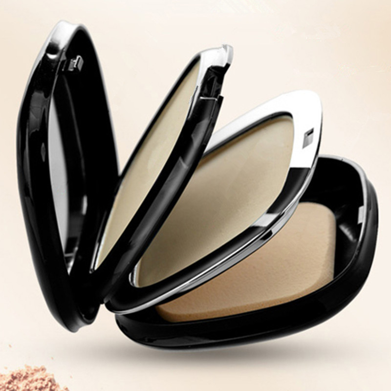 High Quality Dual Use Double Layer Powder Wet Dry Whiten Cosmetics Powder Photosensitive Smooth Soft Makup Product(China (Mainland))