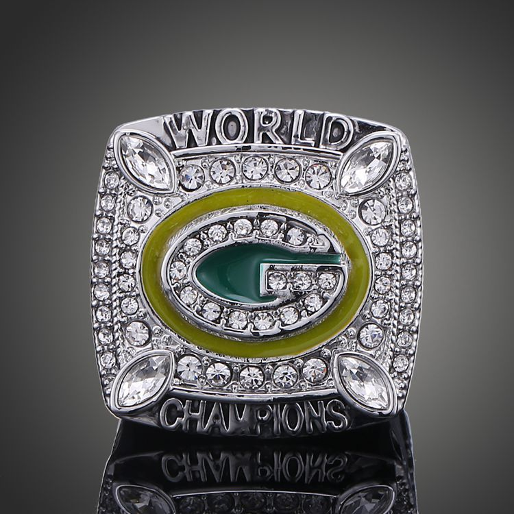 Top Quality Wisconsin Green Bay Packers Super Bowl Rings Platinum Plate Elite QB Aaron Rodgers MVP Sports Replica Champ Ring Men(China (Mainland))