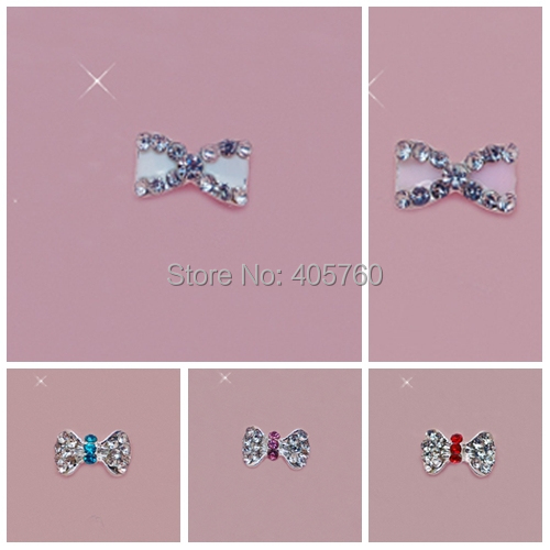 Simple DIY Nail art ideas Bright Crystal 3D Alloy stickers for nail and Phone Decoration mix batch free shipping,(China (Mainland))