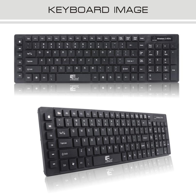Del Black Version Wireless Keyboard and Cordless Optical Mouse Set for Laptop PC Win7/8 Mar04(China (Mainland))