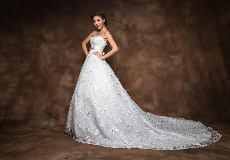 2014 gorgeous white tube top vintage wedding dress bow for Vintage wedding dress belts