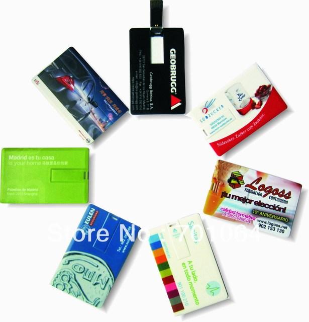 1PCS Credit card  usb flash drive 1GB 2GB 4GB 8GB 16GB 32GB High speed  Free shipping