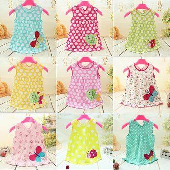 Monkids Summer Baby Girl Dress Princess 0-1 Year Birthday Infant Girl Dot Newborn Dresses Baby Girls Cartoon Clothes 2017 New