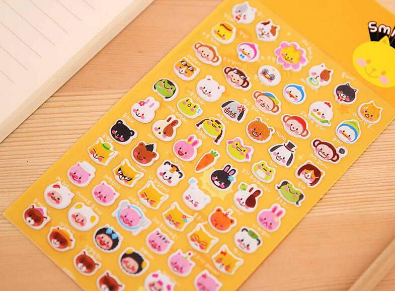 Fancy PVC diary sticker deco sticker promotion gift 0.8usd/pcs animal(China (Mainland))