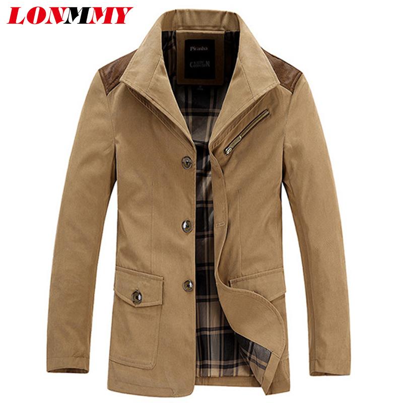 LONMMY Windbreaker coats men clothes militar Spring jacket men jaqueta mens jackets and coats army Casual Cotton 2016 New(China (Mainland))