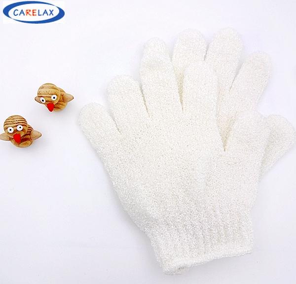Gloves Soap Bath Accessories Nylon Fiber Bath Glove High elastic Wisp The Bathroom Remove Dead Skin For Childen White Finger