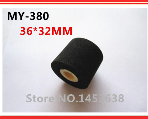 Free Shipping 36*32MM Energy Saving Black Hot Printing Ink Roll for 380f Ink Coding Machine to Print Expiry Date/Batch No.(China (Mainland))