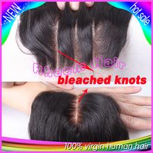 7A Virgin Hair Lace Closure 3 5x4 Brazilian Body Wave Closure Human Hair Closure With Bleached