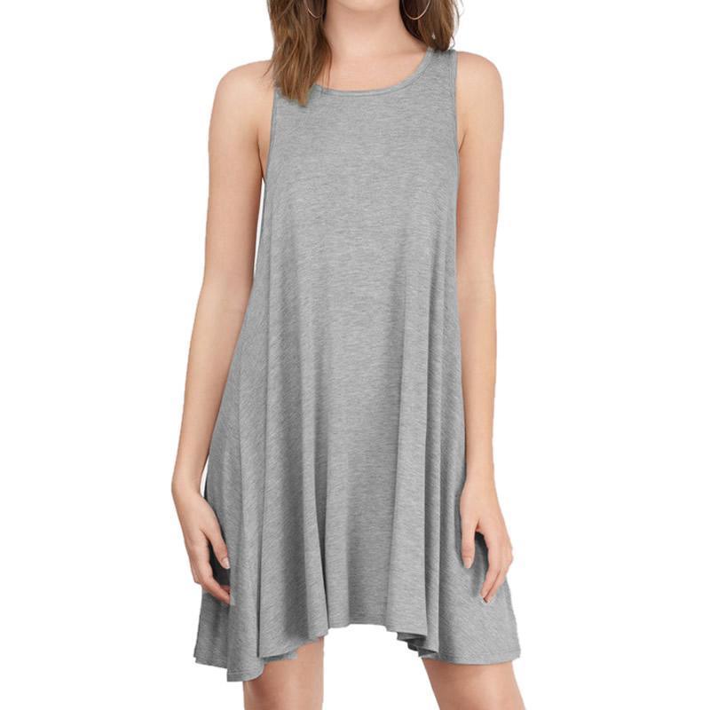 Summer Dress 2016 Women Casual modal Grey Black Loose ...