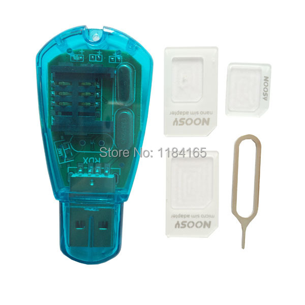 USB 2.0 Tablet PC SIM/Micro Sim/Nano Sim Combo Card Reader, Support GSM / CDMA / WCDMA / PC / Notebook