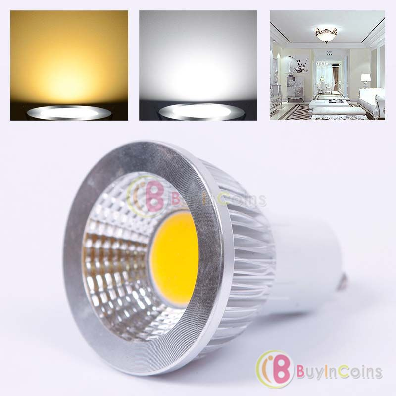happydeal superble ultra bright gu10 led dimmable cob spot light l bulb warm white